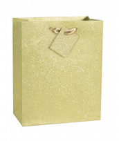 Gold Glitter Medium Gift Bag